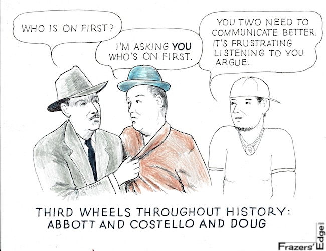 Third Wheels Abbott and Costello LOGO
